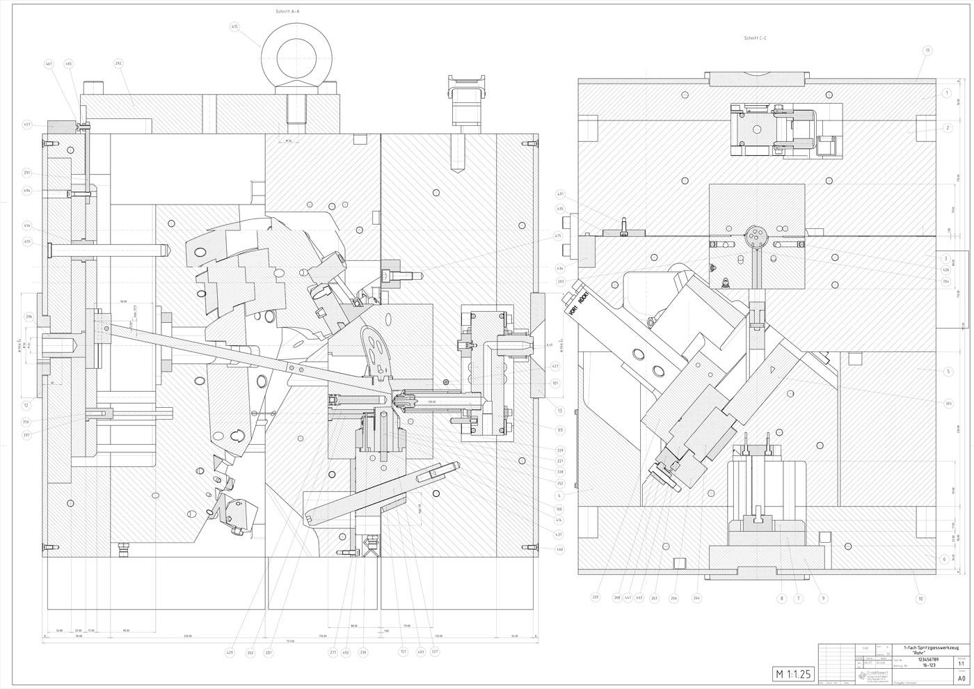 2D, Grimm & Remmert, Konstruktion nach Artikelzeichnung und 2D Daten